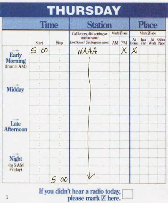 Arbitron diary001