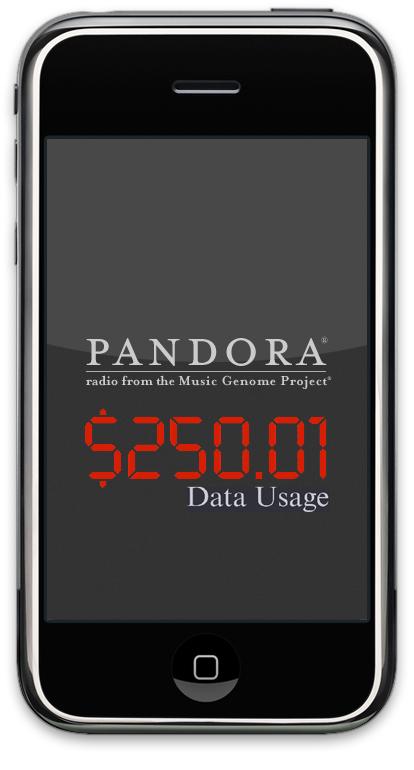 Pandora usage meter