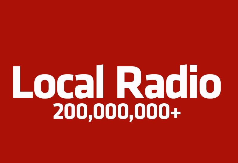 Local radio reach